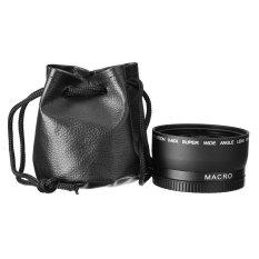 Lensa Kamera 58mm 0.45X Sudut Lebar Lensa Makro untuk Canon EOS 350D/400D/