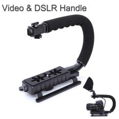 Camera Stabilizer Grip Video Handle C Shape for DSLR GoPro Xiaomi Yi - Black