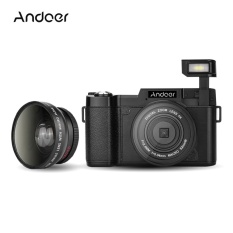Kamera Point Shoot Cdr2 1080 P 15Fps Full HD 24Mp Digital Camera3.0 �  X9D Rotatable LCD Layar Anti- Shake 4X Digital Zoom Built-InRetractable Senter Video DV Perekam Cam Camcorder W/Wide-Angle Lens UV Filter-Intl