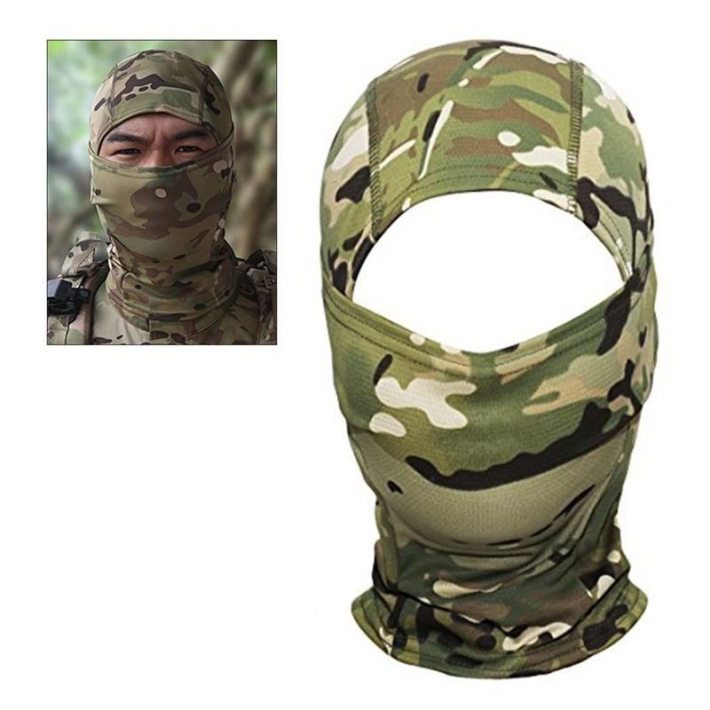 Kamuflase Hood Ninja Kolam Bersepeda Sepeda Motor Berburu Taktik Militer Helm Kapal Gear Masker Wajah Penuh (Semua Medan Kamuflase)-Intl