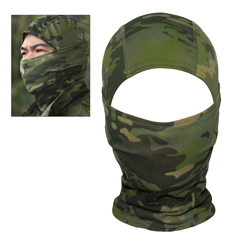 Jual Camouflage Hood Ninja Outdoor Cycling Motorcycle Hunting Military Tactical Helmet Liner Gear Full Face Mask Jungle Camouflage Intl Antik