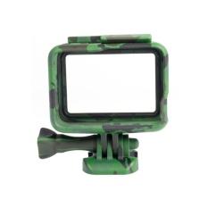 Kamuflase Standard Protective Dive Housing Hard Cover Stand untuk GoPro 5 Hitam Di Luar Sport Camera GOPRO HERO 5 Black Case (Jungle Green) -Intl