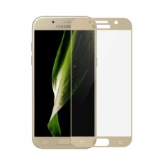Candy Original Full Coverage Tempered Glass for Samsung Galaxy A7 (2017) Screen Protector Film 0.26m 9H Hardness Glass - Gold