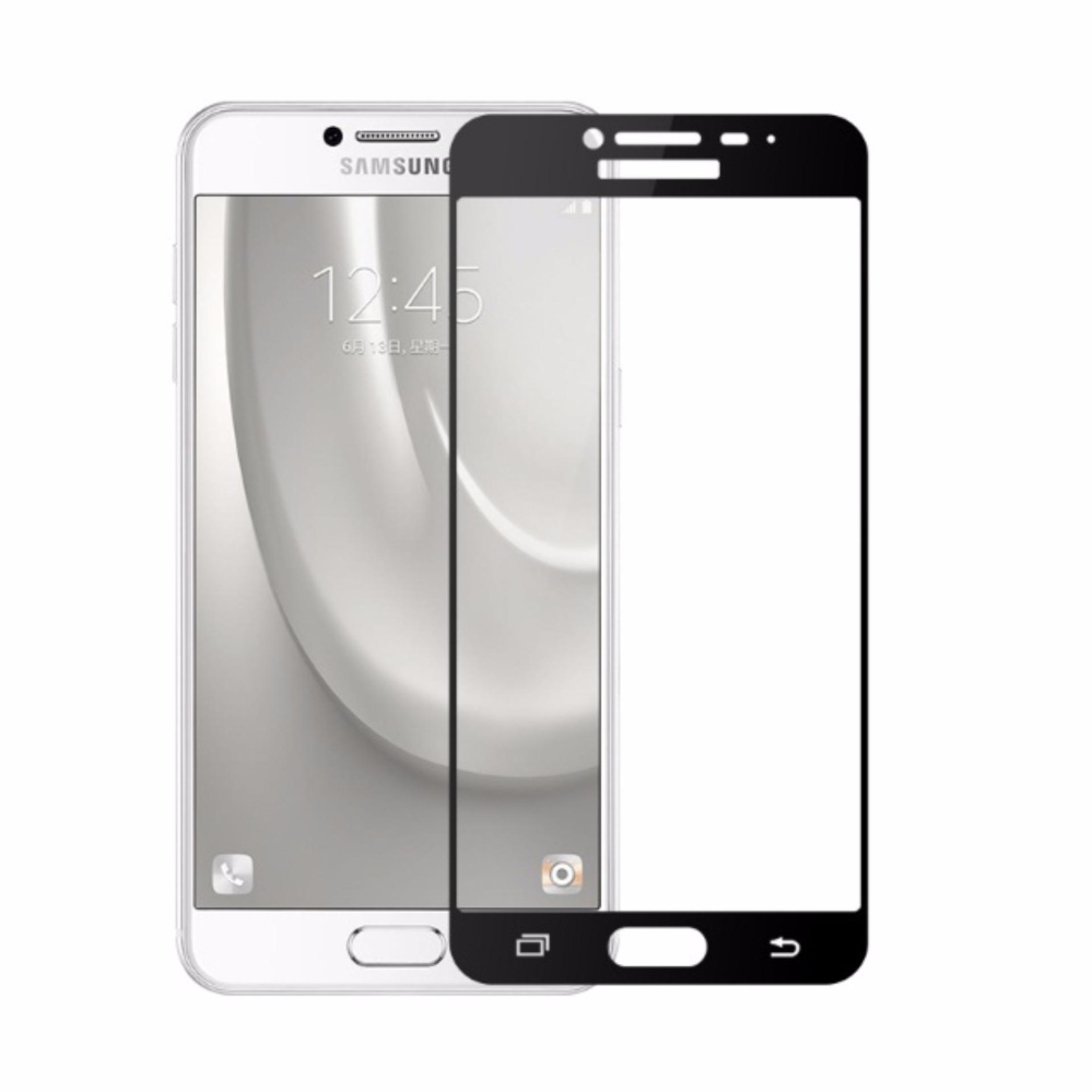 Vn Full Cover Samsung Galaxy C9 / C9 Pro / 4G LTE / Duos| Premium 9H Tempered Glass 4D Screen Protector Film 0.32mm - Hitam