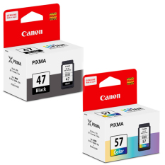 Jual Canon Cartridge Pg 47 Black Cl 57 Color Baru