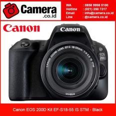 Canon EOS 200D Kit 18-55 IS STM - Black  Kamera SLR Canon
