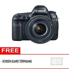 Canon EOS 5D Mark IV Kit 24-105mm f/4.0L IS II USM Kamera DSLR - Hitam