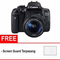 Jual Canon Eos 750D Kit 18 55Mm Is Stm Free Screen Protector Hitam Branded