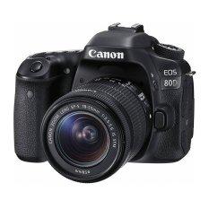 Canon Eos 80D Kit 18-55mm IS STM - 24 MP - Hitam - Free Memory 16GB + Screenguard