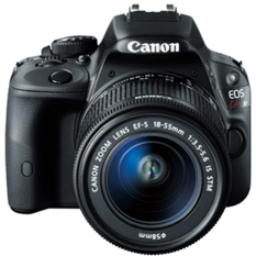 Canon EOS Kiss x7/ EOS 100D Kit EF-S 18-55mm IS STM - 18 MP - Hitam