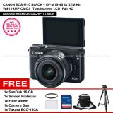 Spesifikasi Canon Eos M10 Black Ef M15 45 Is Stm Kit Wifi 18Mp Cmos Touchscreen Lcd Full Hd Datascrip Sandisk 16Gb Screen Protector Filter 49Mm Camera Bag Takara Eco 193A Dan Harga