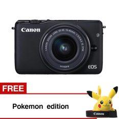 Canon Eos M10 Black With Ef M15 45Mm Gratis Pokemon Edition Terbaru