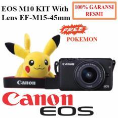 Canon EOS M10 Kamera Digital KIT Lens EF-M15-45mm -Hitam-Free Pokemon -Garansi Resmi