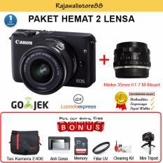 Beli Canon Eos M10 Kit 15 45Mm Meike 35Mm F1 7 Free Aksessories Kamera Nyicil