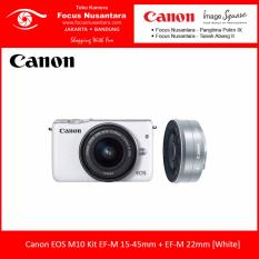 Canon EOS M10 Kit EF-M15-45mm + EF-M22mm [White]