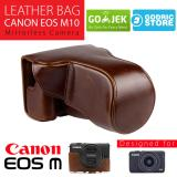 Beli Canon Eos M10 Leather Bag Case Tas Kulit Kamera Mirrorless 15 45 Mm 18 55 Mm Coklat Tua Baru
