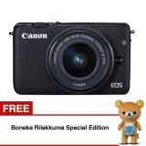 Toko Canon Eos M10 Mirrorless Lensa Kit Ef M15 45Mm Koneksi Wifi Nfc Hitam Gratis Boneka Rilakkuma Edisi Spesial Termurah Di Indonesia