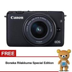 Beli Canon Eos M10 Mirrorless Lensa Kit Ef M15 45Mm Koneksi Wifi Nfc Hitam Gratis Boneka Rilakkuma Edisi Spesial Terbaru