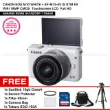 Review Toko Canon Eos M10 White Ef M15 45 Is Stm Kit Wifi 18Mp Cmos Touchscreen Lcd Full Hd Datascrip Sandisk 16Gb Screen Protector Filter 49Mm Camera Bag Takara Eco 193A