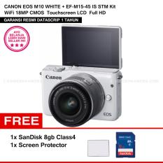 Perbandingan Harga Canon Eos M10 White Ef M15 45 Is Stm Kit Wifi 18Mp Cmos Touchscreen Lcd Full Hd Datascrip Sandisk 8Gb Screen Protector Canon Di Dki Jakarta