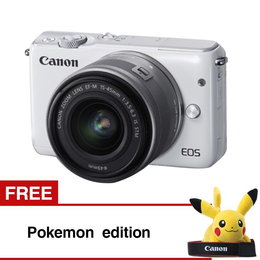 Canon EOS M10 White with EF-M15-45mm Gratis Pokemon Edition