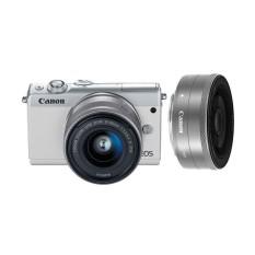 Canon EOS M100 Kit 15-45mm + 22mm Kamera Mirrorless - White [GBR]