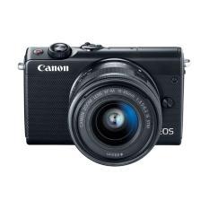 Canon EOS M100 Kit 15-45mm Black Kamera Mirrorless - 24.2MP (Garansi 1th) Bonus SanDisk Ultra 16gb + Anti Gores + Filter 49mm + Tas + Takara ECO-173A