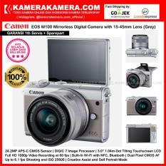 Iklan Canon Eos M100 Kit 15 45Mm Grey Kamera Mirrorless 24 2Mp Cmos Wifi Full Hd Garansi 1Th