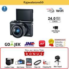Canon EOS M100 Kit EF-M 15-45 IS STM - Black - Free Aksessories Kamera