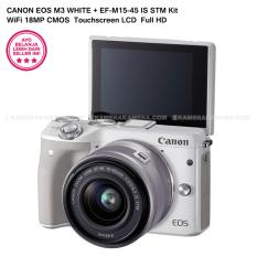 Jual Canon Eos M3 Ef M15 45 Is Stm Kit White 24 2Mp Wifi Touchscreen Lcd Canon