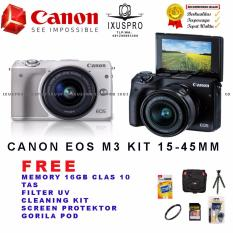 Diskon Canon Eos M3 Kit 15 45 Is Stm Camera Mirrorless Wifi Dan Touchscreen Akhir Tahun