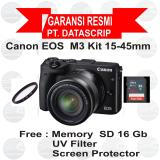 Jual Canon Eos M3 Kit 15 45 Mm Black Branded Murah