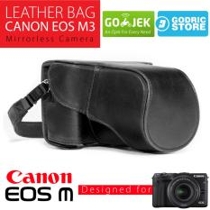 Canon EOS M3 Leather Bag / Case / Tas Kulit Kamera Mirrorless Kit 15-45 MM / 18-55 MM