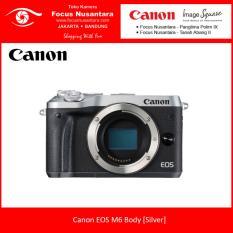Canon EOS M6 Body [Silver] + Free Battery LP-E17