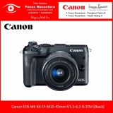 Daftar Harga Canon Eos M6 Kit Ef M15 45Mm F 3 5 6 3 Is Stm Black Free Battery Lp E17 Canon