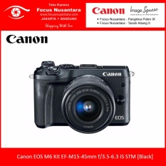 Beli Canon Eos M6 Kit Ef M15 45Mm F 3 5 6 3 Is Stm Black Free Battery Lp E17 Dengan Kartu Kredit