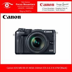 Canon EOS M6 Kit EF-M18-150mm f/3.5-6.3 IS STM [Black] + Free Battery LP-E17