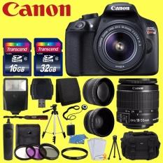 Canon EOS Rebel T6 Kamera SLR Digital dengan 18-55 Mm EF-S F/3.5-5.6 IS II Lensa + 58 Mm Lensa Sudut Lebar + 2x Lensa Telefoto + Flash + 48 GB SD Kartu Memori + UV Perlengkapan Filter + Tripod + penuh Aksesori Bundle-Intl