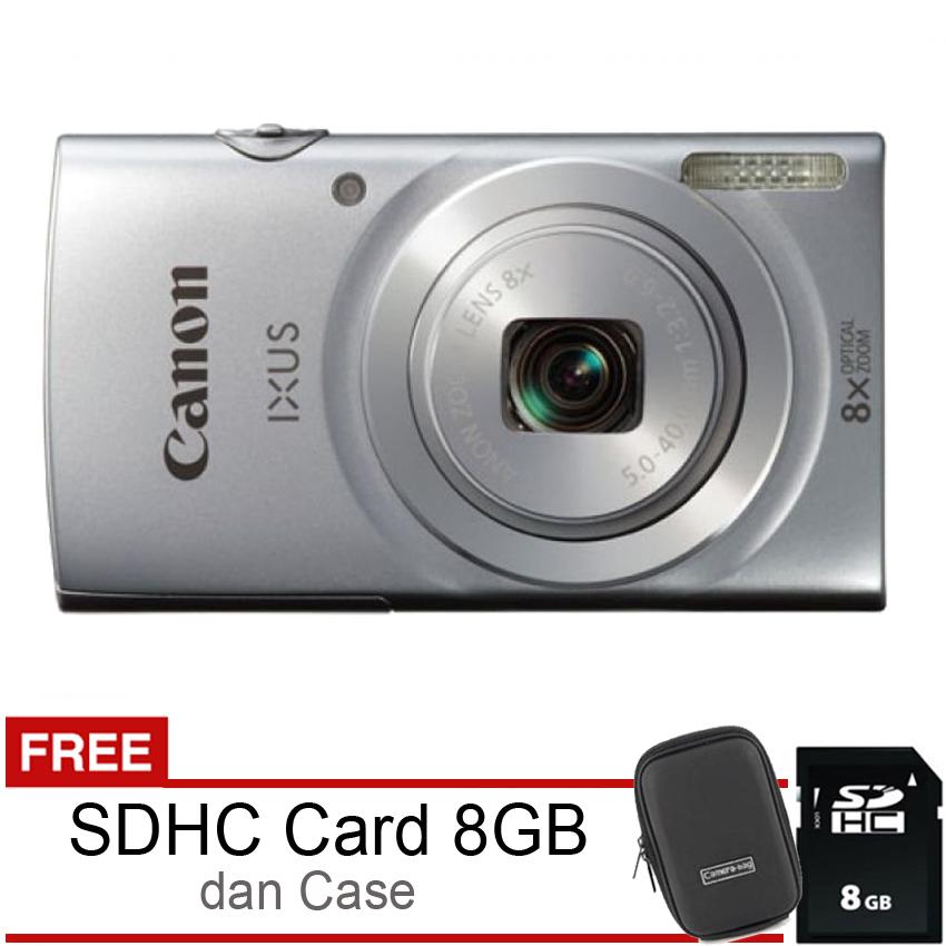 Canon Ixus 145 16Mp 8X Optical Zoom Silver Canon Diskon 50