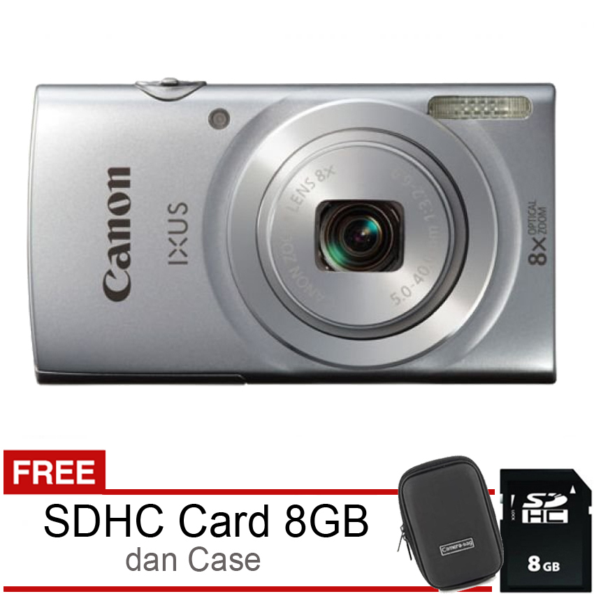 Toko Canon Ixus 145 16Mp 8X Optical Zoom Silver Online Di Indonesia