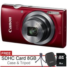 Spesifikasi Canon Ixus 175 20 Mp Free Sdhc 8Gb Case Tripod