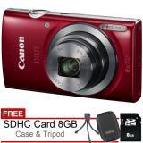 Spesifikasi Canon Ixus 185 20 Mp Free Sdhc 8Gb Case Tripod Bagus