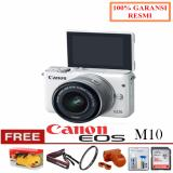 Review Canon Kamera Eos M10 Kit With Lens Ef M15 45Mm White Free Pokemon Filter Uv Leather Case Cleanig Kit Sandisk Ultra 16Gb Garansi Resmi Di Dki Jakarta