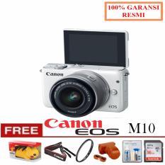 Toko Jual Canon Kamera Eos M10 Kit With Lens Ef M15 45Mm White Free Pokemon Filter Uv Leather Case Cleanig Kit Sandisk Ultra 16Gb Garansi Resmi