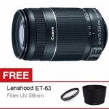 Promo Canon Lensa Ef S 55 250 Is Stm F 4 5 6 Gratis Lenshood Et 63 Filter Uv