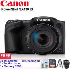 Canon PowerShot SX430 IS - WiFi 20MP 45x Optical Zoom (Resmi) + SanDisk Ultra 32gb + Cleaning Kit + Gorillapod + Tas Kamera (RESMI)