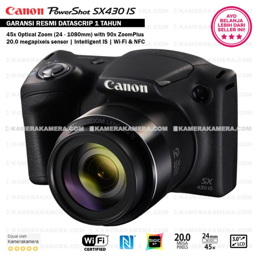 Harga Canon Powershot Sx430 Is Wifi 20Mp 45X Optical Zoom Resmi Datascrip Paling Murah