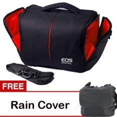 Canon Tas Kamera Canon Hitam  Gratis Rain Cover