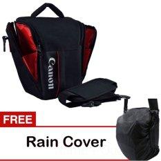 Canon Tas Kamera Selempang Segitiga - Hitam + Gratis Jas Hujan Kode S