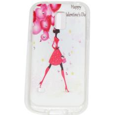 Cantiq  Case Lovely Girls Shine Swarovsky For Samsung Galaxy S5 Mini G800F Ultrathin Jelly Case Air Case 0.3mm / Silicone / Soft Case / Case Handphone / Casing HP - 7